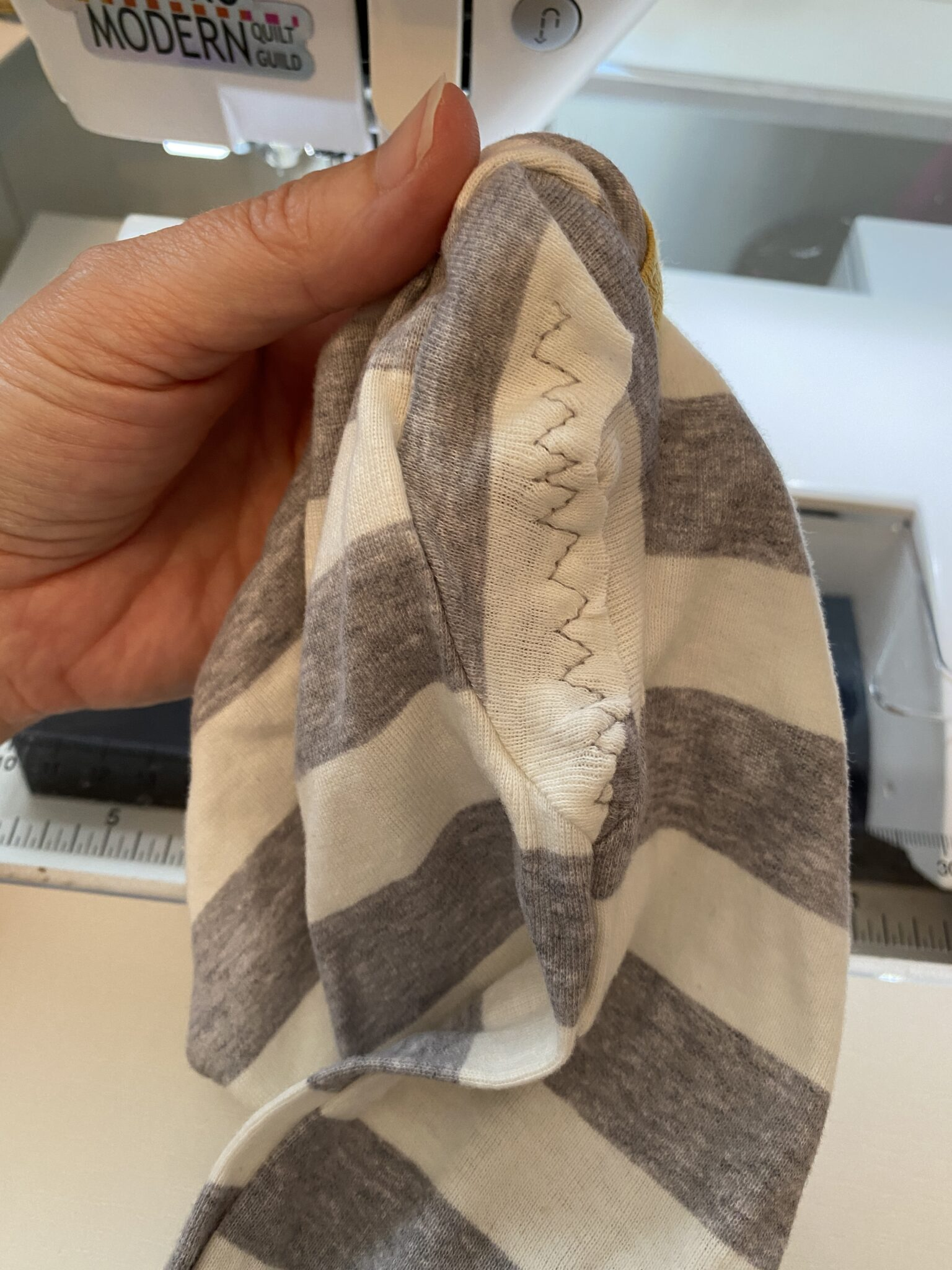 Flat seam on onesie
